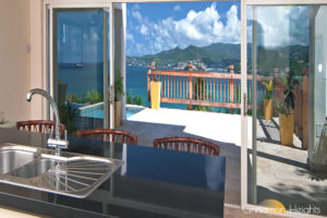 Grand Anse view from Cinnamon Heights Villa